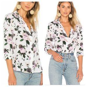 Equipment Femme Leema Floral Button up silk blouse
